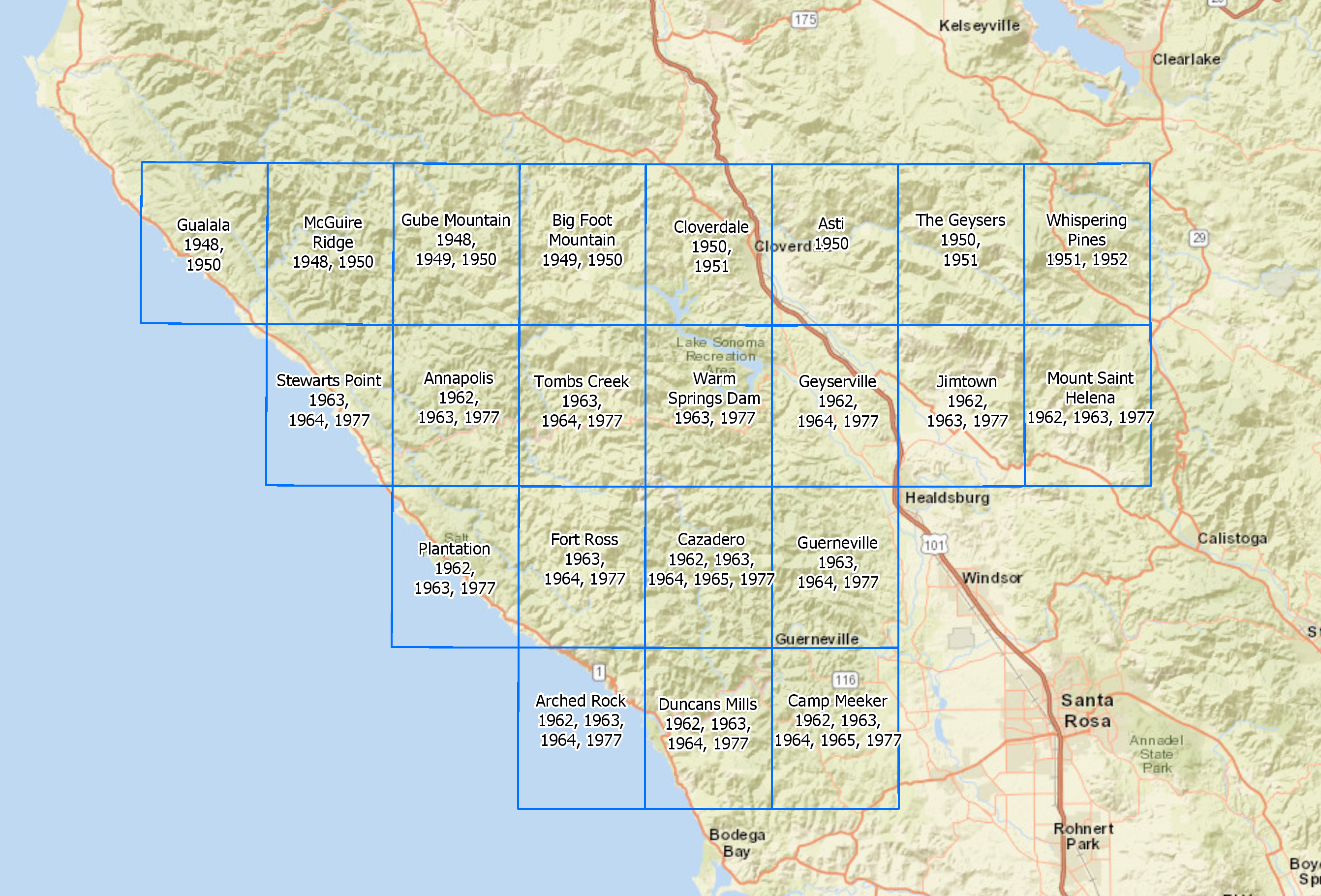 Historic \'Soil-Veg\' Maps Available for Northern Sonoma Cty. | Sonoma ...