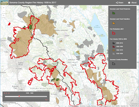 Fires Sonoma County Vegetation And Habitat Mapping Program